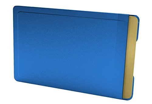 CardTresor Color Kartenschutzhülle aus Edelstahl in blau, RFID/NFC-Schutz