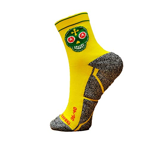 HOOPOE Calcetines Trail Running Amarillos, Hombres, Mujer, D