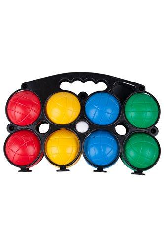 Mountain Warehouse Set de pétanque - Jeu de boules traditionnel français, léger, boîte de transport pratique, durable - Pour jouer à l'extérieur l'été ou à l'intérieur un jour de pluie Noir Taille unique