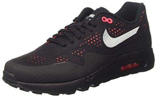 Nike Air MAX 1 Ultra 2.0 Moire, Zapatillas de Gimnasia Hombre, Blanco (Black/Wolf Grey/Solar Red), 42 EU