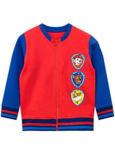 PAW PATROL Jungen Chase Marshall Rubble Sweatshirt Rot 110