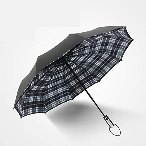 WWDKF Sombrillas Plegable De Vinilo A Prueba De Sol Completamente Automático, El Diseño De Paraguas De Doble Capa Evita Que La Lluvia Gote,B