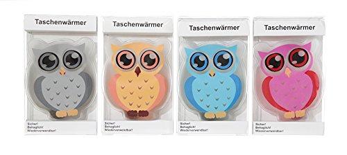 4er Set Taschenwärmer Eule (tolles Wichtelgeschenk) Handwärmer, Taschenheizkissen