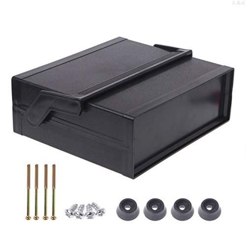 DLRSET Caja de componentes PLC, Impermeable de plástico Electrónico Armario Proyecto Box Negro 200 * 175 * 70 mm l29k (Color : Black, Size : M)