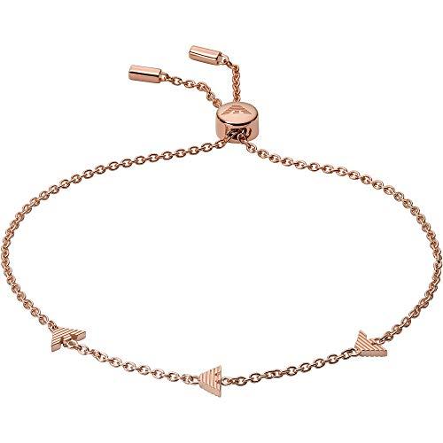 Emporio Armani EG3504221 - Pulsera para mujer de plata de ley 925, rosa, 24 cm