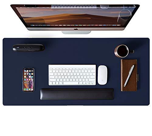 AothiaLeder Pad,Mauspad, Büro Schreibtischmatte, rutschfester PU Leder Schreibtisch, Laptop Schreibtisch Pad, wasserdichtes Schreibtisch Schreibpad für Büro und Zuhause(80cm x 40cm, Dunkelblau)