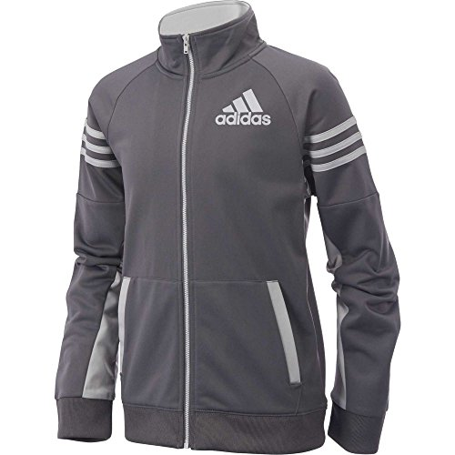 adidas Boys 8-20 League Track Jacket (XL) Gray