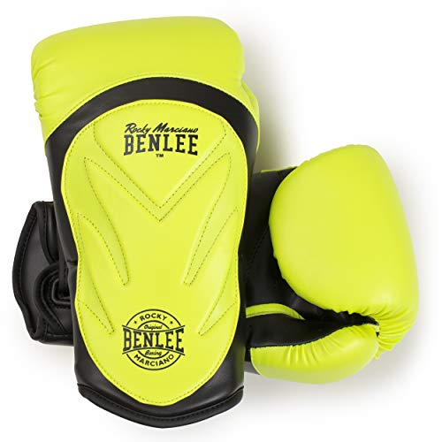 BENLEE Rocky Marciano Unisex – Erwachsene LAMPUNG Artificial Leather Boxing Gloves, Neon Yellow, 12 oz