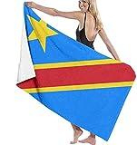 BAOYUAN0 Badetuch XXL M?nner & Frauen Strandt¨¹Cher Flagge der Demokratischen Republik Kongo. Multifunktionales schnelltnendes Badetuch Gro?e Reisedecke 80 * 130 cm Stranddecke Picknickdecke