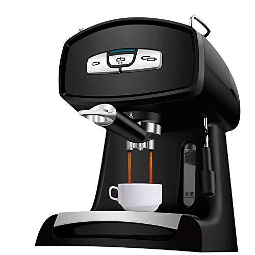 RLIRLI espressomachine, grote capaciteit 1200 ml, koffiezetapparaat en koffie optioneel, koffie macchiato melk en karamel (zwart)