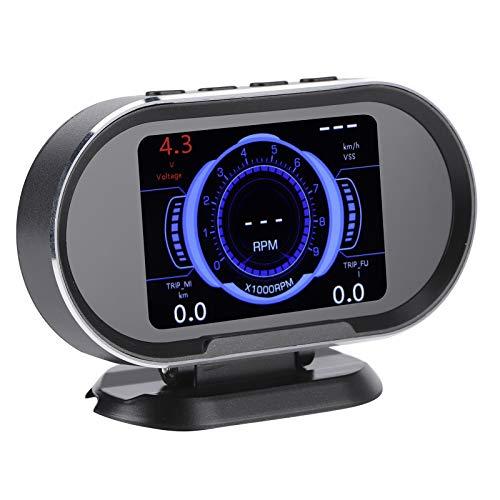 Bediffer Coche HUD Head-Up Display Escáner de fallas 2 en 1 Escáner OBD2 Herramienta de diagnóstico automático Lector de códigos de fallas Profesional Conveniente para automóviles para vehículos de