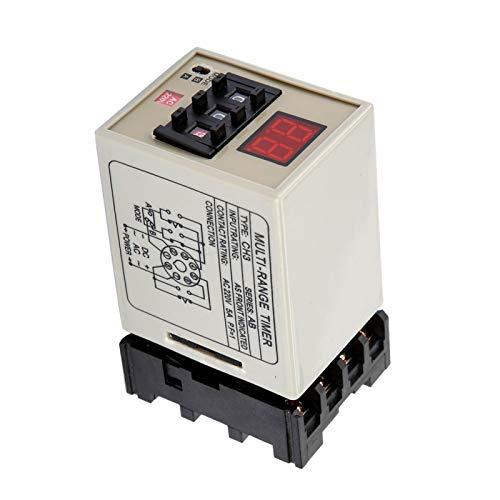 Relé de tempo de retardo, temporizador à prova d'água Relé estável de alta precisão para controle remoto para comunicação para controle automático para mecatrônica(AC220V)