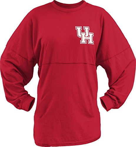 Royce Apparel NCAA Houston Cougars Junior Big Time Kehrmaschine, Damen, Houston Cougars Big Time Outline Sweeper, rot, Large