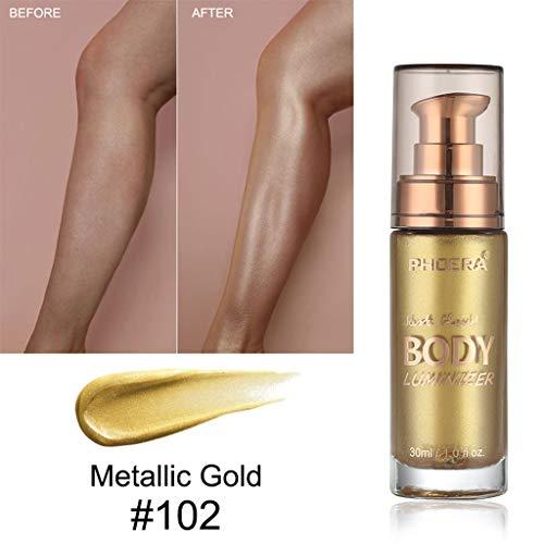 LCLrute NEUE PHOERA Body Mode Beauty Make-up Creme Gesicht Körper Schimmer Make-up Flüssigkeit...