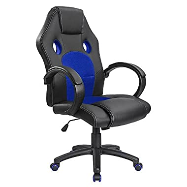 Homall Gaming Chair Executive Office Chair Desk Chair Racing Style Chair Padded Armrests Task Chair Mesh Bucket Seat and Lumbar Support (Red)