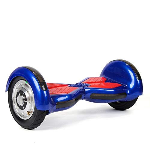 ZHEBEI Vehículo eléctrico de 10 pulgadas inteligente auto equilibrado 10 pulgadas carpa azul