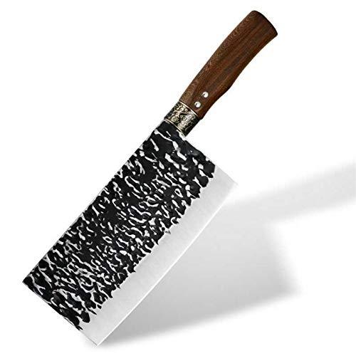 Cuchillo de carnicería forjada de mano cuchilla ancha Chopper Cuchillo de cocina Camping Chef Cuchillo Utilidad Cuchillo de cocina Cuchillo de cocina profesional (Color : Chef knife)