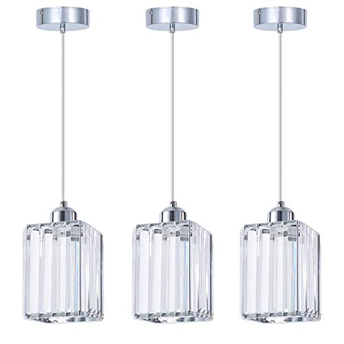 SHENGQINGTOP Modern Crystal Pendant Light for Kitchen...