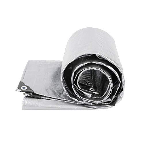ZXL Regenschutztuch, Sonnenschutz Sonnenschutzisolierung Reflektierendes Tuch für den Außenbereich Regenschutz Wasserdicht Kunststoff-Überdachung LKW-Plane Schwerer Schmutz...