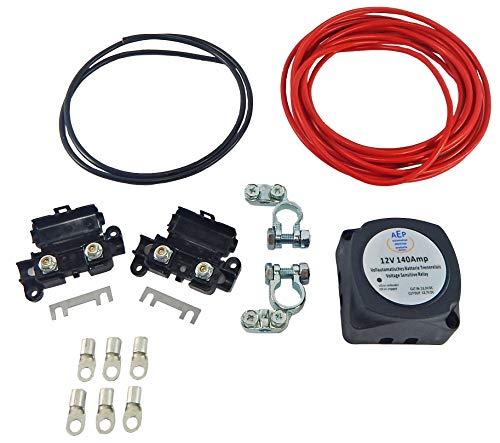 Batterie Trennrelais Komplettset/Vollautomatisch 12 V / 140 Ampere