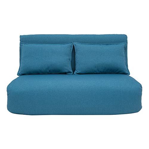 Miliboo Chauffeuse Convertible Design Bleu Canard 2 Places Sleeper