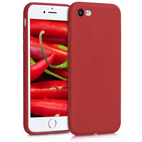 kwmobile Chic TPU Silikon Hülle für das Apple iPhone 7/8 in rot matt