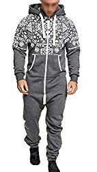 security Mens Stylish Running Jumpsuits Workout Jogger Printing Zipper Tracksuits