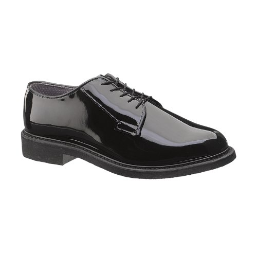 Bates Men's Lites High Gloss Oxford, Black, 13 D US