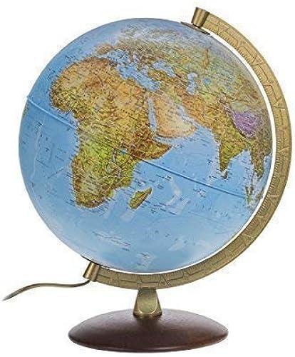 marca en liquidación de venta Globo iluminado iluminado iluminado 30cm con Patas de madera y Color dorado Meridiano de metal - Trabajo 2016 con lámpara LED  ordene ahora los precios más bajos