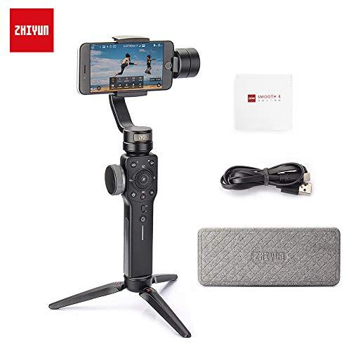 Zhiyun Smooth 4 3-Achsen-Handheld Gimbal Stabilisator für Smartphone iPhone X 8 7 Plus Samsung Galaxy S9+ S9 S8+ S8 S7 GoPro Hero 6/5/4/3 mit Fokus halte und zoom Möglichkeit und Objektverfolgung
