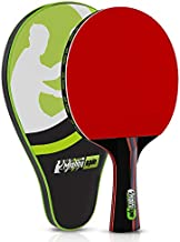 MightySpin Tornado Pro Carbon Paddle Professional Table Tennis Racket w/ITTF 2.1 mm Rubber - Killer Spin and Speed Ping Pong Paddles - Loops with SureSpeed Rackets Tech
