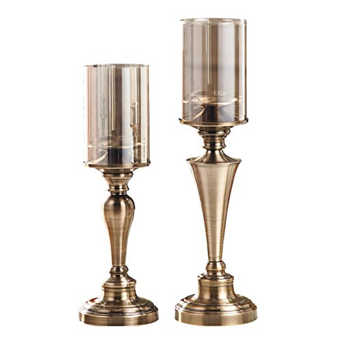 TIANHAO Kreativer Metallkerzenhalter, Dekoratives Kerzenlicht, Ideal Für LED- Und Stumpenkerzen, Geschenke Für Hochzeitsdekoration
