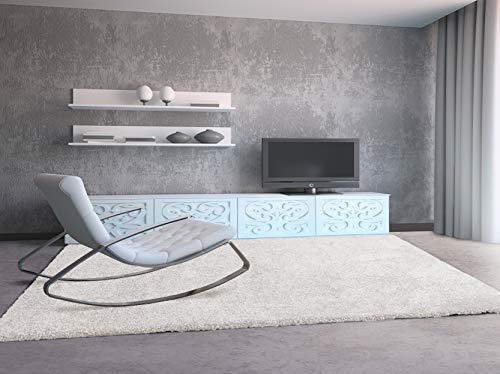 Universal Alfombra Aqua Liso Blanco 100x150 cm