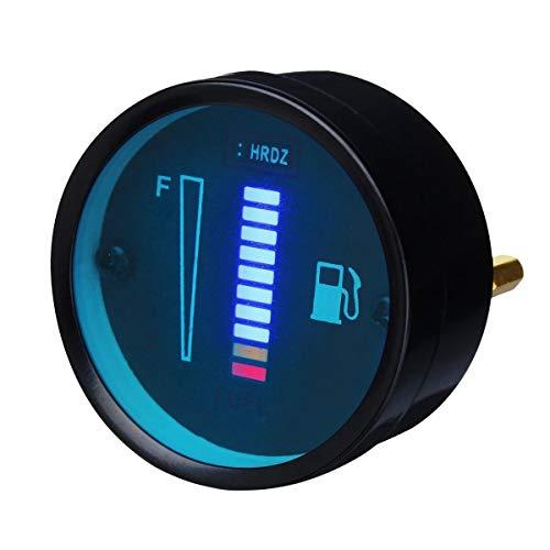 Motorrad-Instrumente 12V LED-Aluminiumlegierung Kraftstoffstand Meter-Messgerät for Motorrad Auto-Automobil (Farbe : Blue)