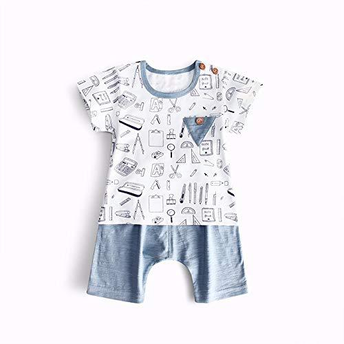Ropa para niños, gas extranjero, traje, verano, dos piezas, manga corta, bebé, bebé, 80 cm.