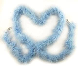Celine lin 1PC 2yards/Length Dyed Fluffy Feather Boa Loose Turkey Marabou Feather for Party/Costumes/Shawl/Wedding/Home Decorations,Light Sky Blue