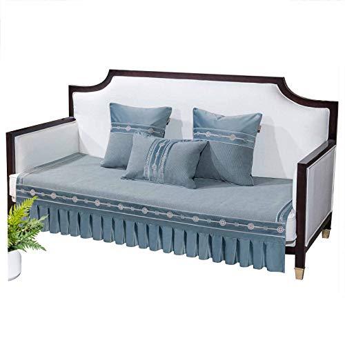 KIKIGO - Copridivano protettivo antiscivolo per divano e divano, copertura componibile, 35 x 55 cm, colore: grigio