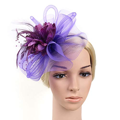 Lurrose 1 st Vrouwen Hoofdbanden Mooie Gauze Elegante Decoratieve Haar Hoop Hoofddeksels Hoofddeksels Haarbanden voor Banket Party Paars