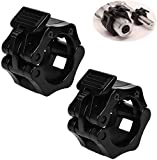 Onke 2-Inch -2 PCS Olympic Barbell Clamps 2 Inch, Quick Release Barbell Locking Clamps Olympic Bar Weight Plates Collar Clips for Workout Training, Fitness, Weightlifting.
