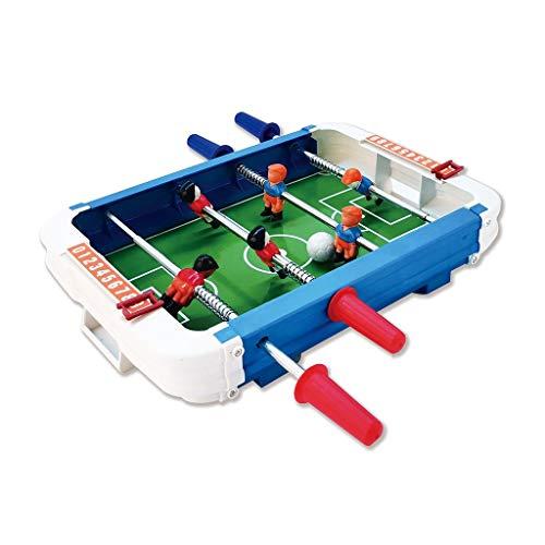 ZXQZ Tischbillard Kickertisch, Kompaktes Mini-Tischfußballspiel, für Spielzimmer Family Game Night Piłkarzyki (Color : Stainless Steel Rod)