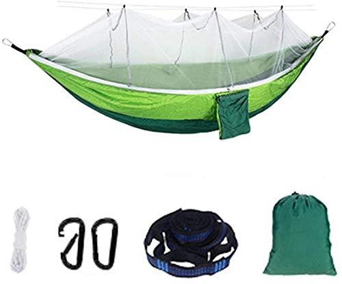 YSCYLY Hamac Pliable Voyage,260 * 140CM avec moustiquaire,Hamac en Parachute de Soie - Confortable et Super léger