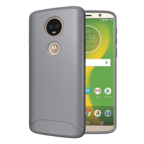 TUDIA [Arch S TPU Schutzhülle Motorola Moto E5 Plus Ultra Slim Hülle (Grau)