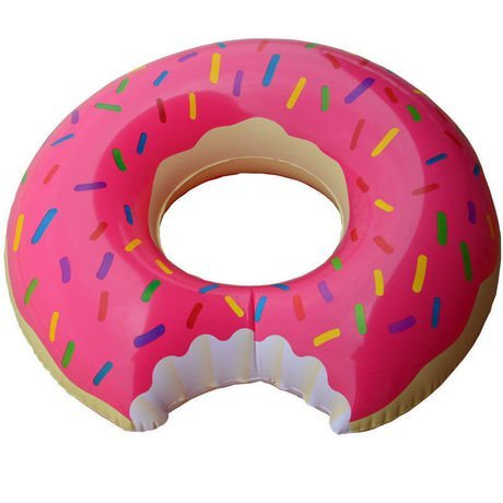 Praxia 浮き輪 浮輪 うきわ 人気 子供用 大きい ドーナツ ピンク 直径 120cm