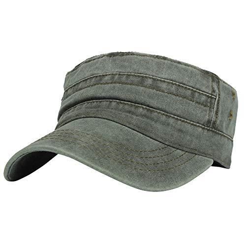 Firetrap Herren Canvas Baseball Cap Kappe Basecap Hut Verstellbar