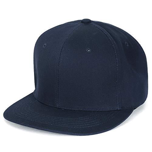 ililily Extra Large Big Size Snapback New Era Style Blank Hat Baseball Cap (ballcap-1443-1)