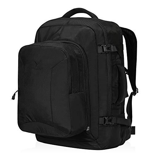 Hynes Eagle bagaglio a mano 38 + 10 litri con zainetto rimovibile Zaino da viaggio Zaino da viaggio Zaino da viaggio Zaino da esploratore 17 pollici 54x35x20 cm per viaggi e viaggi di lavoro Nero