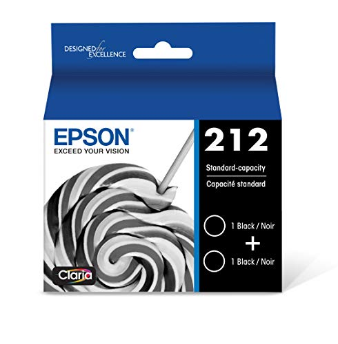 Epson T212 Claria Standard Capacity Cartridge Ink - Dual Pack Black
