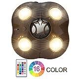 HONWELL LED Außenleuchten Sonnenschirm Beleuchtung Lampe Notlicht Dimmbar 16 Farben Zelt Licht...