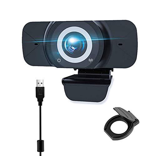 EasyULT Webcam PC 1080P Full HD con Micrófono Estéreo, USB 2.0 Cámara Portátil para PC, Micrófono con Cancelación de Ruido, para Videollamadas, Conferencia, Grabación, Estudio