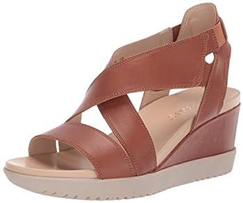 Aerosoles Bloom Wedge Sandal DK TAN Leather 10 M US